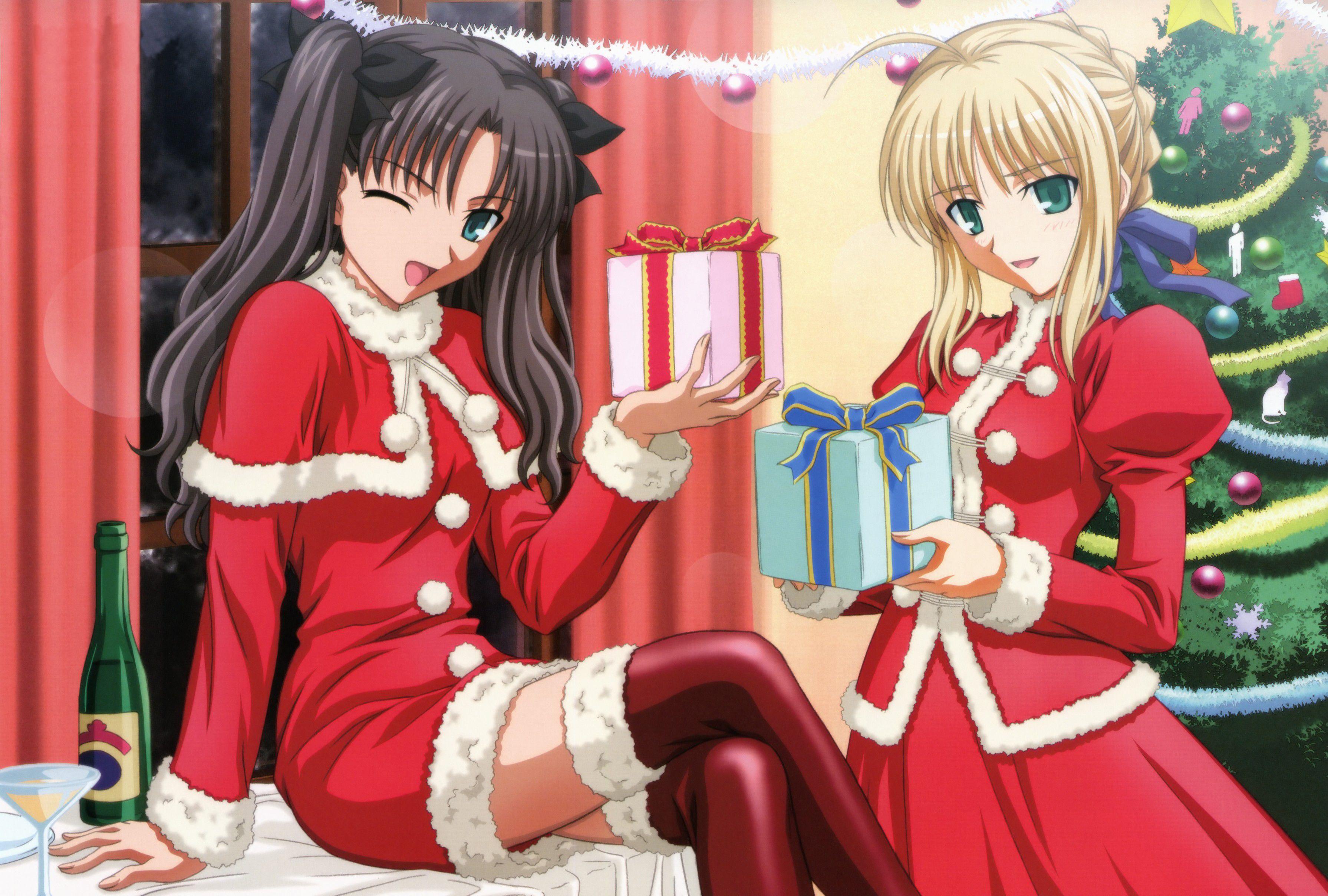 - Anime girl christmas wallpaper ...